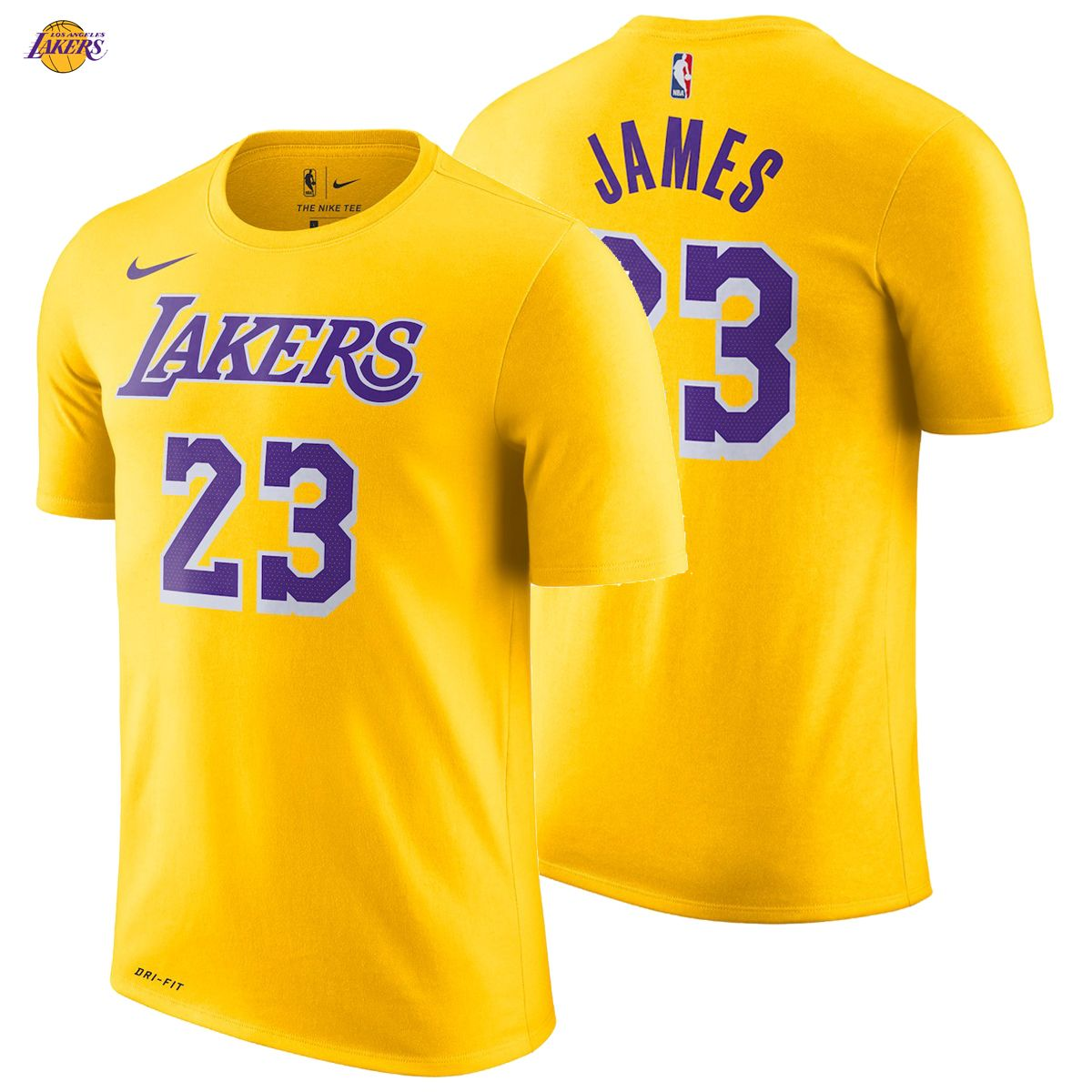6e0a0903c772 LeBron James Los Angeles Lakers Nike T-Shirt 2018 19 Icon Edition Name  Number Yellow 23 The King NEW NWT Show LeBron your support by grabbing this  Los ...