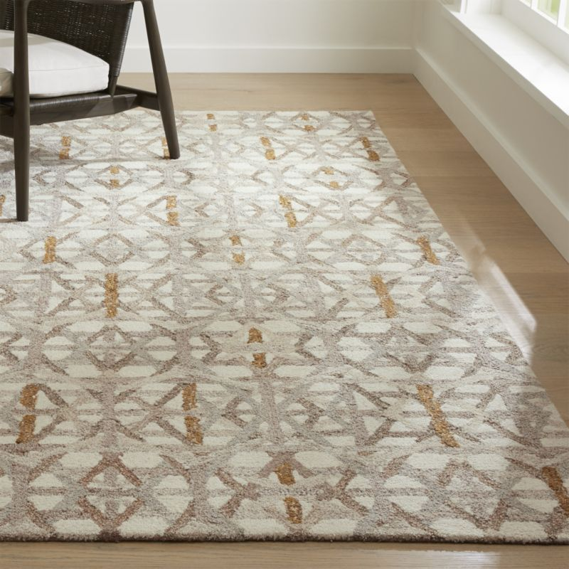 Pietro Dune Beige Geometric Rug Crate And Barrel With Images
