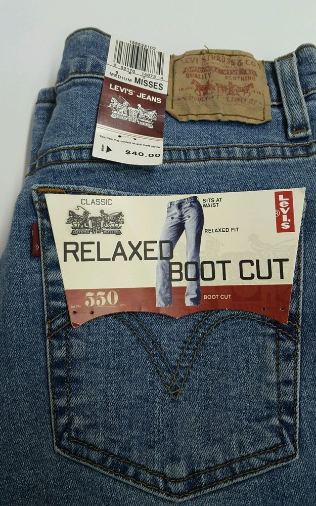 2bd844f693c WOMENS LEVI'S 550 RELAXED BOOT CUT JEANS. Great Gift. SIZE 8 M NWT #Levis # BootCut