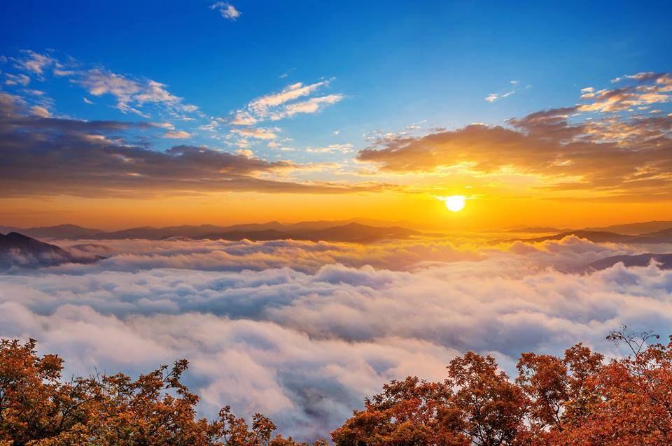 Những biển mây bồng bềnh trên đỉnh là thứ dễ khiến bạn bị thôi miên trong ánh hoàng hôn của núi Seorakan.