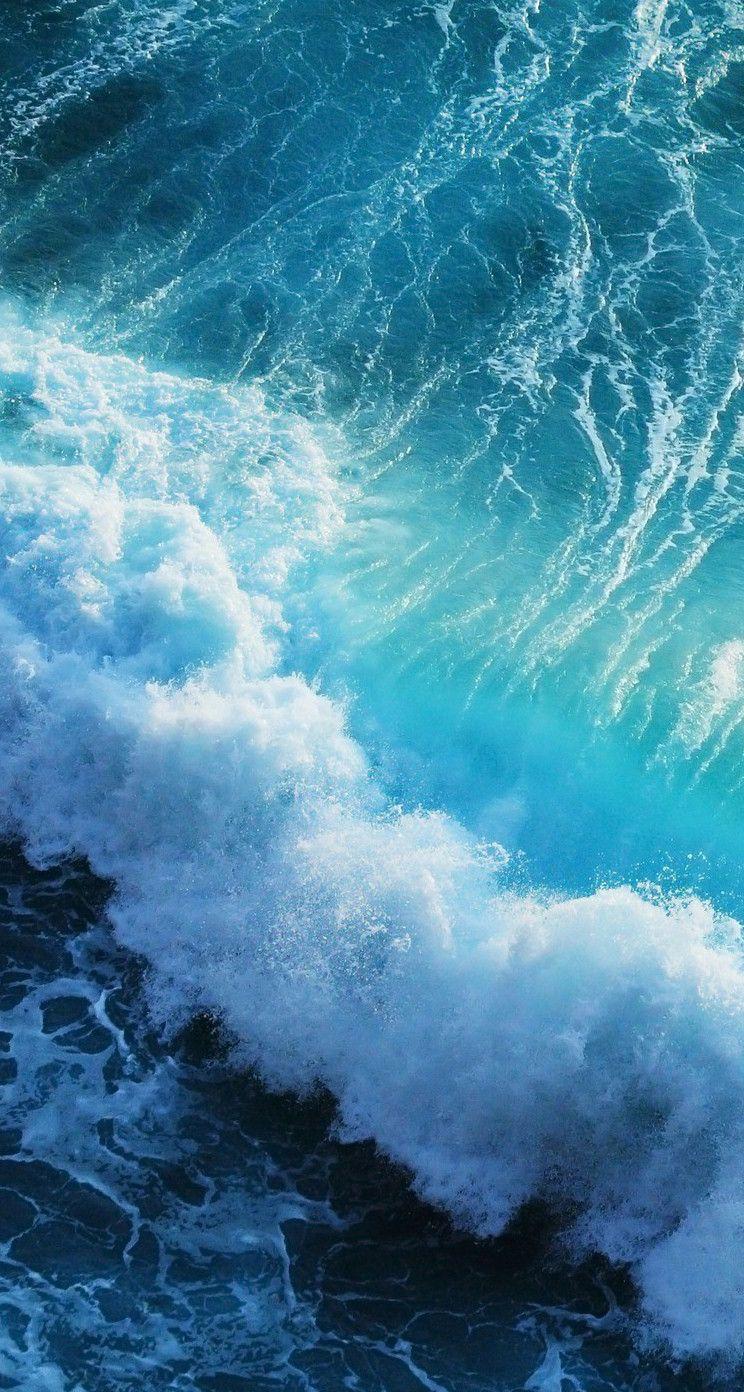 iOS 8 Wallpaper - Bing images | Blue Wallpaper! in 2019 | Ocean wallpaper, Waves wallpaper ...