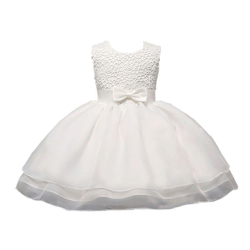 Baby Girl Princess White Dress Wedding Baptism Dresses newborn ...