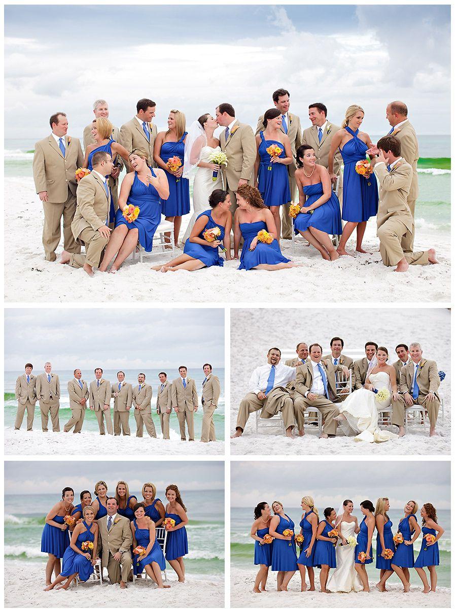 Taupe & Royal Blue Wedding#blue #beach wedding... Wedding ideas for ...