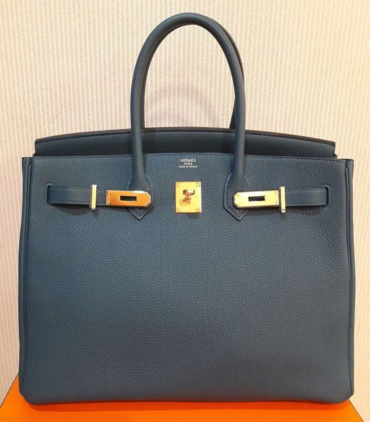 015d6b5909ed Hermes Birkin 35 Blue Agathe togo ghw [X] | Bags | Hermes, Hermes ...
