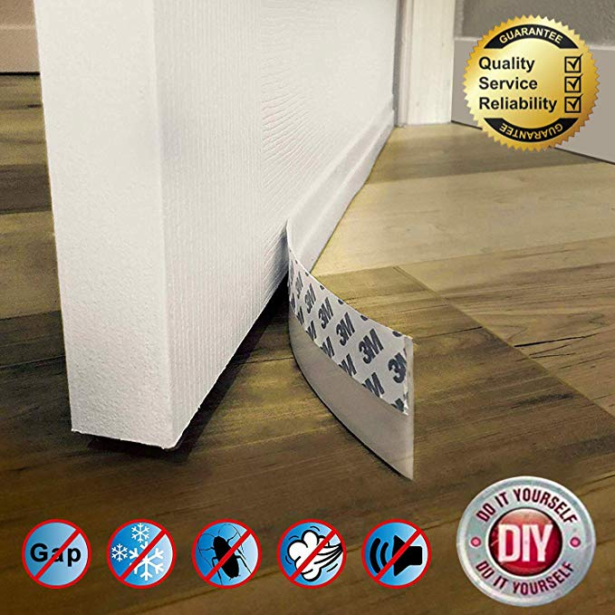 Amazon Com Door Draft Stopper Door Sweep Weather Stripping Silicone Draft Blocker Against Drafts Dust Noise Leng Door Draught Stopper Door Draft Draft Guard