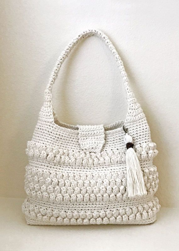 Crochet Bag With Tassel Pattern Easy Crochet Purse Crochet