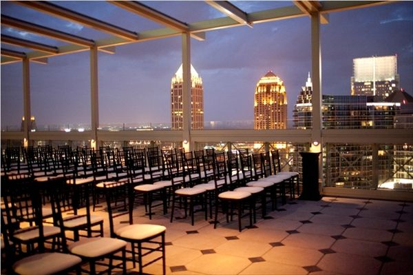 The Peachtree Club Rooftop Wedding Venue Georgia Wedding Venues Rooftop Wedding