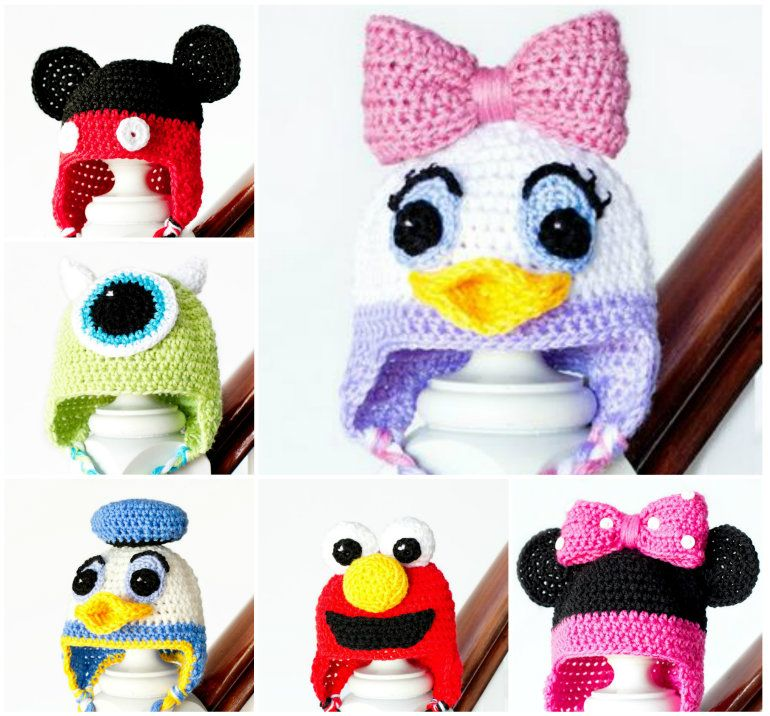 Free Crochet Character Hats Best Patterns For Kids | Crocheting ...