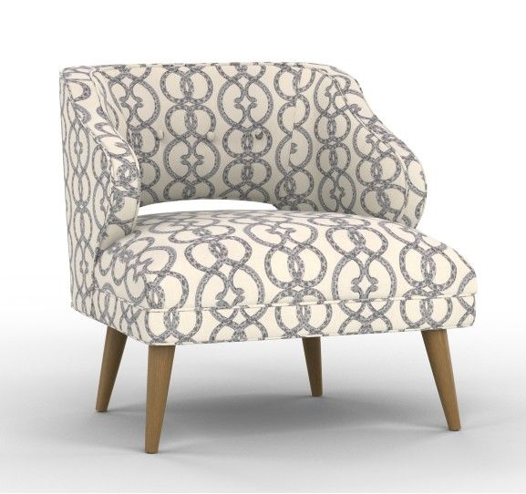 Mallory Chair in Snake Chain Dove with Dark Ash legs