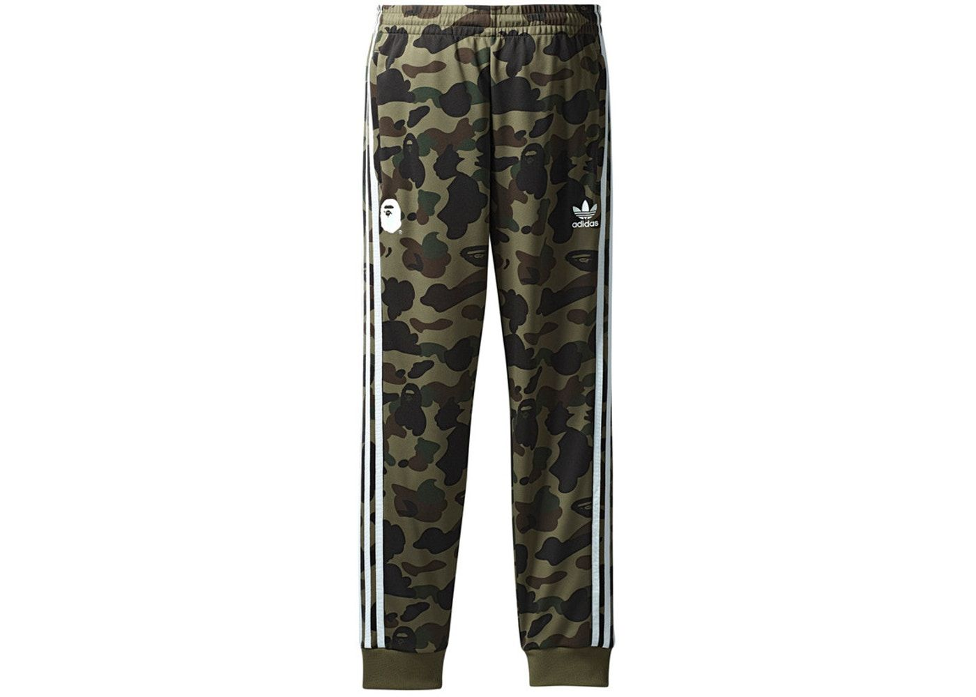 4ba7aabe Check out the Bape x adidas adicolor Track Pants Olive Cargo available on  StockX