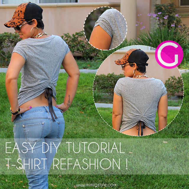DIY Refashioned T-Shirt Tutorial! (Um, HOT! I'd have to layer a tank underneath, though.)