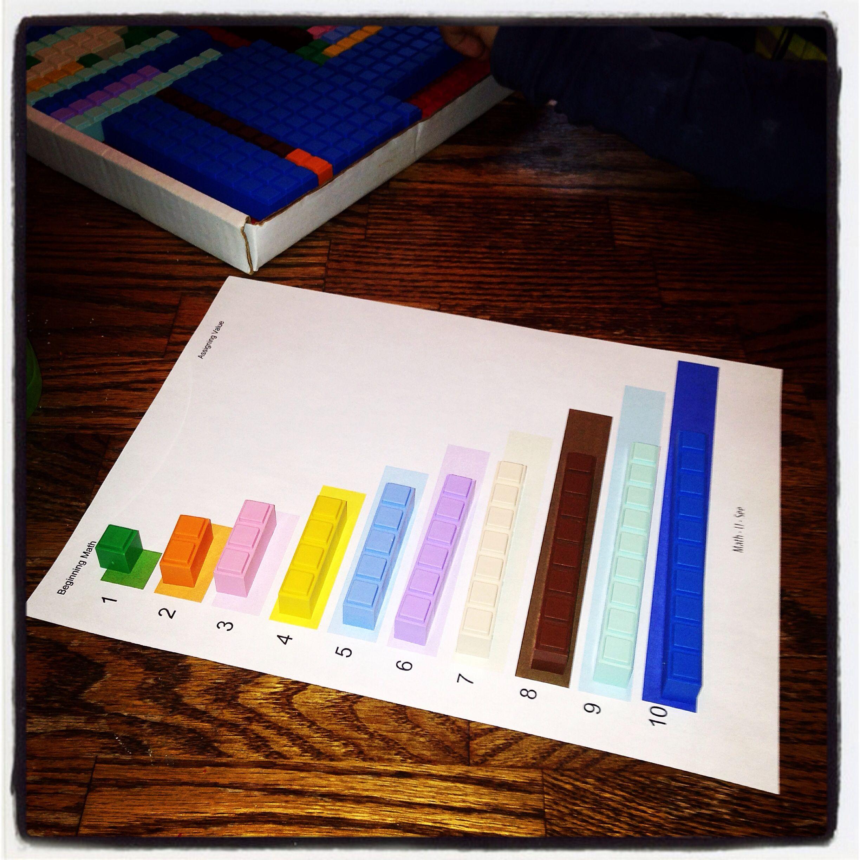 Math U See Mathusee Unit Block Value Color Match