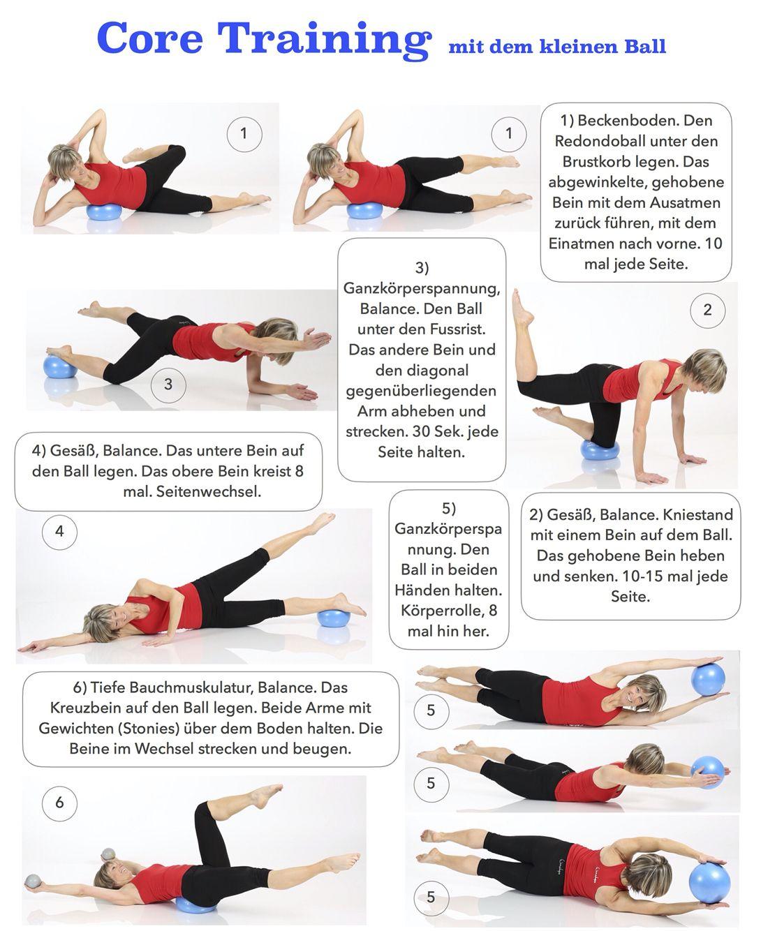 Stabile Mitte und flacher Bauch mit dem kleinen Ball! core stability exercises -> für Pilates Sonderangebote klicken! #goodcoreexercises