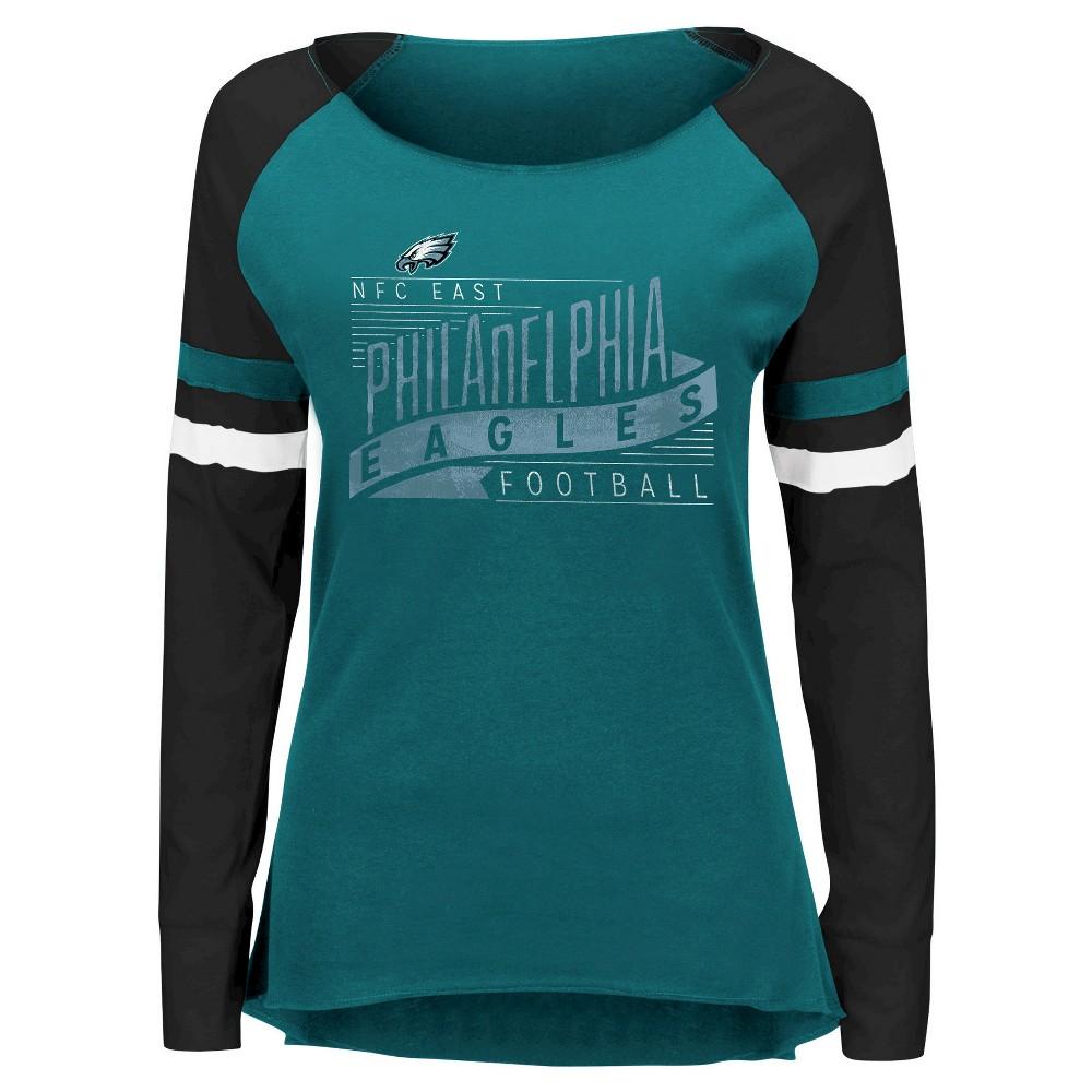 3970c893 Philadelphia Eagles Women's Long Sleeve Raglan Baseball T-Shirt XL ...
