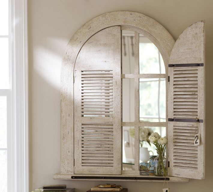Arched Door Mirror Wood Wall | Arched window mirror ...
