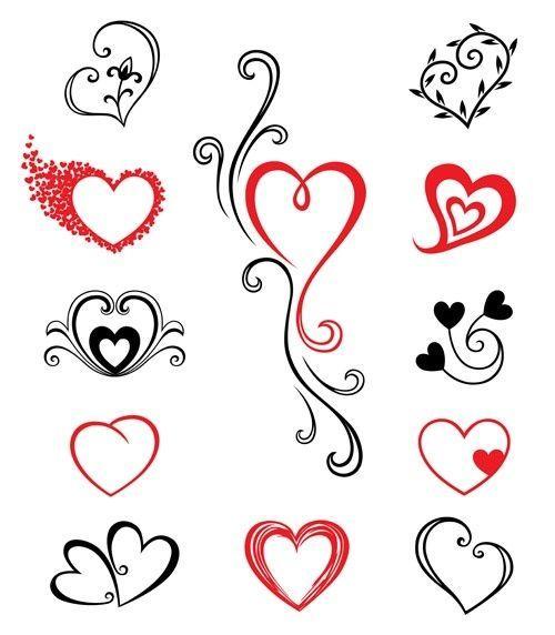 Herzen Tattoos Ich Liebe Die In Der Mitte Oder Zumindest Das Herz