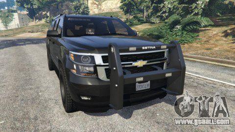 Chevrolet Suburban Police Unmarked 2015 For Gta 5 Chevrolet