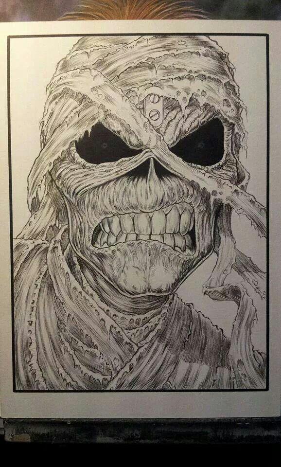 Eddie Powerslave, pencil   Iron maiden eddie, Grim reaper ...
