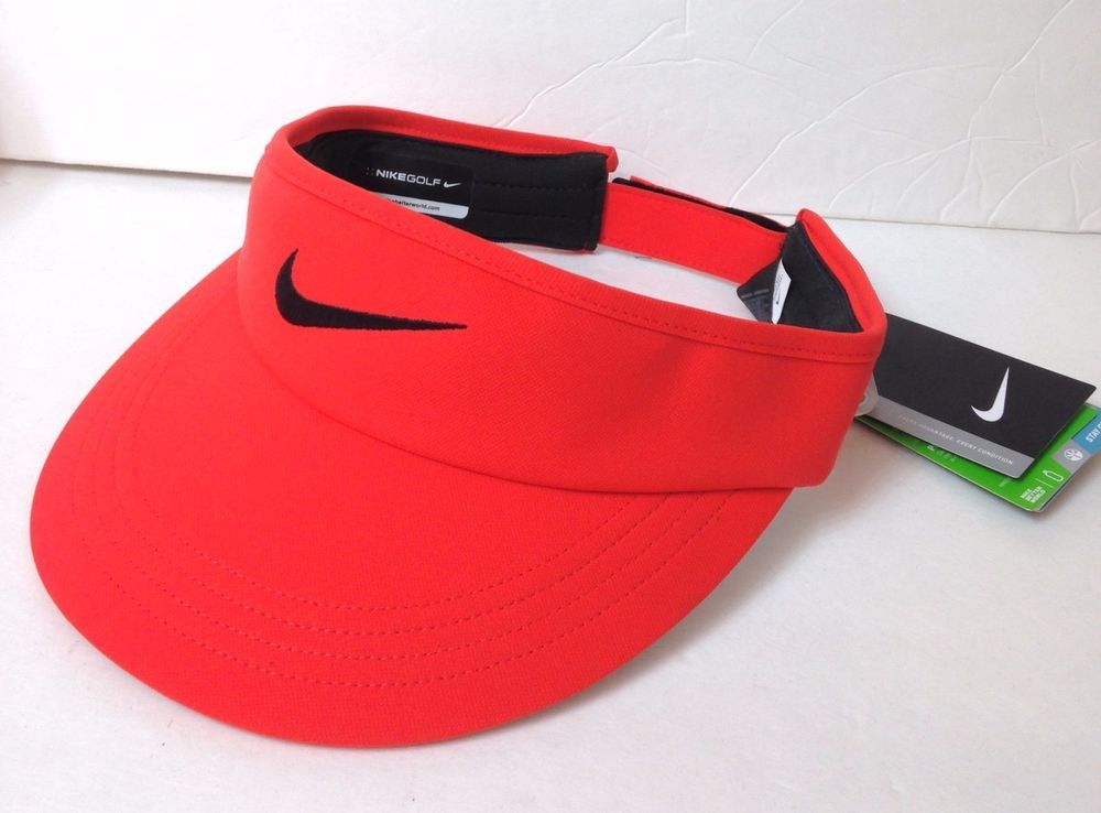 116524f2d NIKE GOLF VISOR Tour Style Wide Brim Dri-Fit Sun Hat Men/Women ...