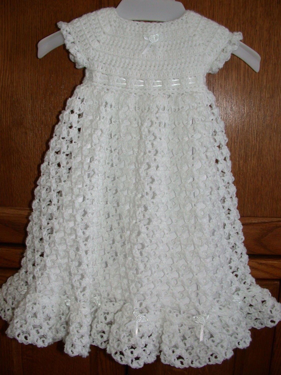 Free Crochet Christening Gown | ... crocheted baby blessing ...