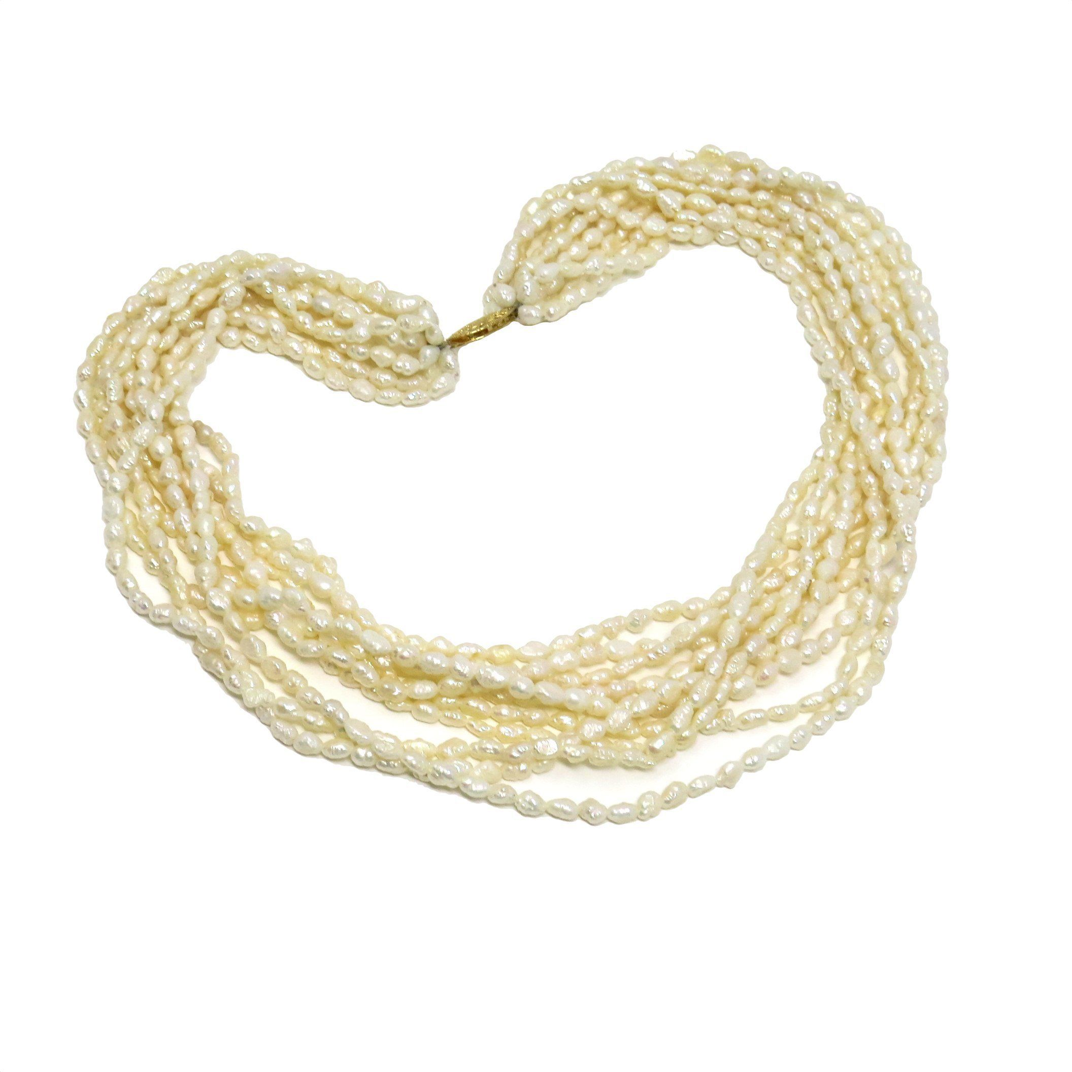 Multistrand baroque pearl gold choker necklace pinterest