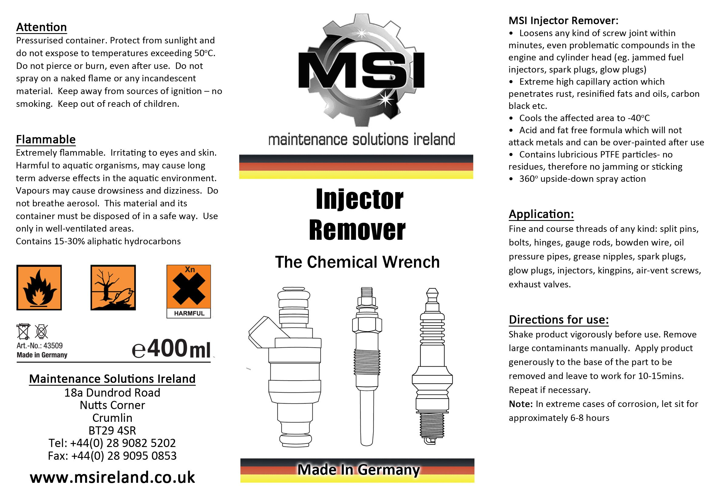 Label designed completely from scratch. illustrated automotive components, colour kept to a minimum.