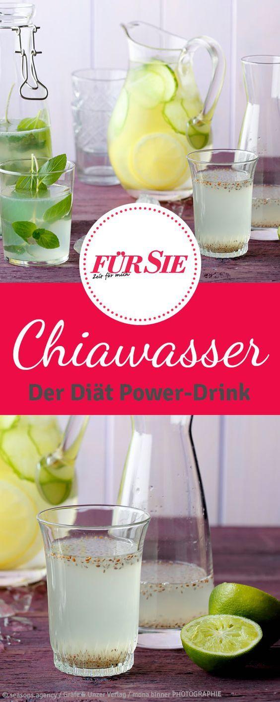 Chiawasser: Das ideale Getränk zum Abnehmen   Smoothies, Low carb ...
