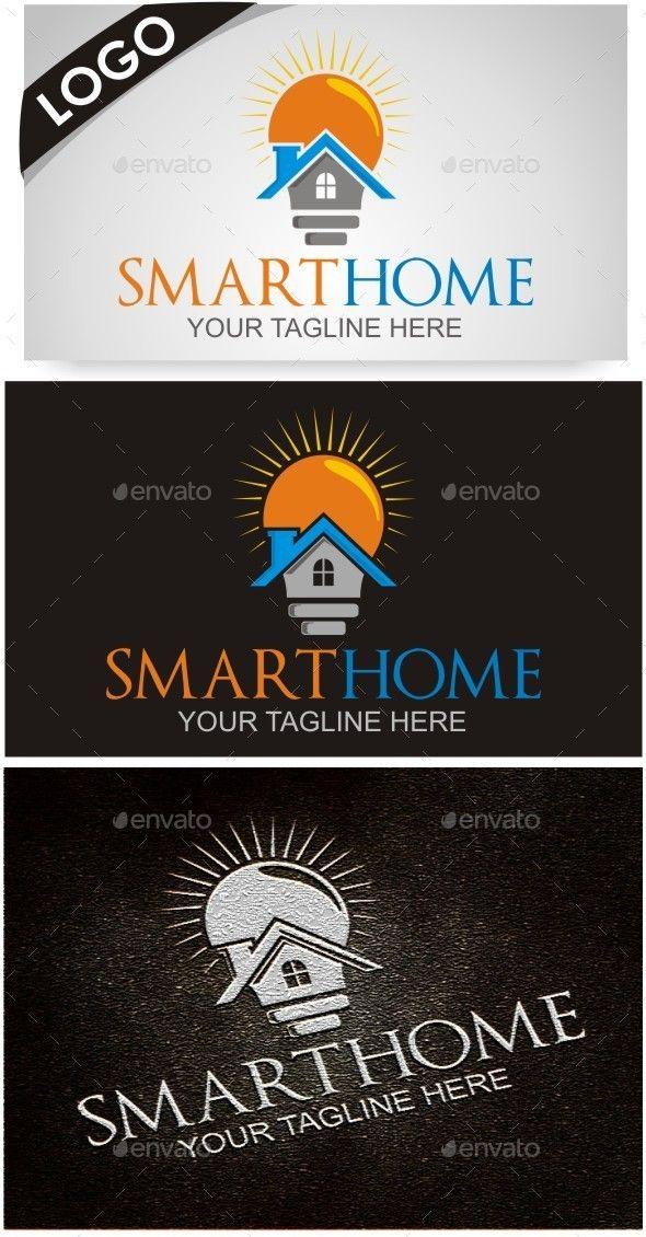 Smart Home Logo Design Template Vector logotype Download