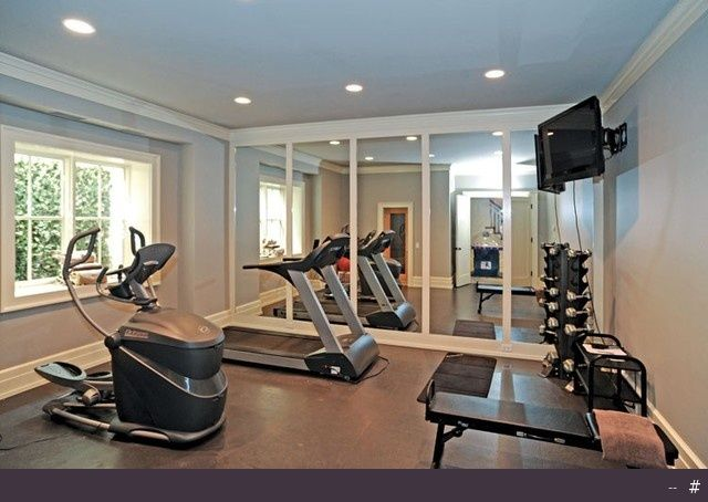 Love The Mirrors And Tv Stand Gym Room At Home Home Gym Decor
