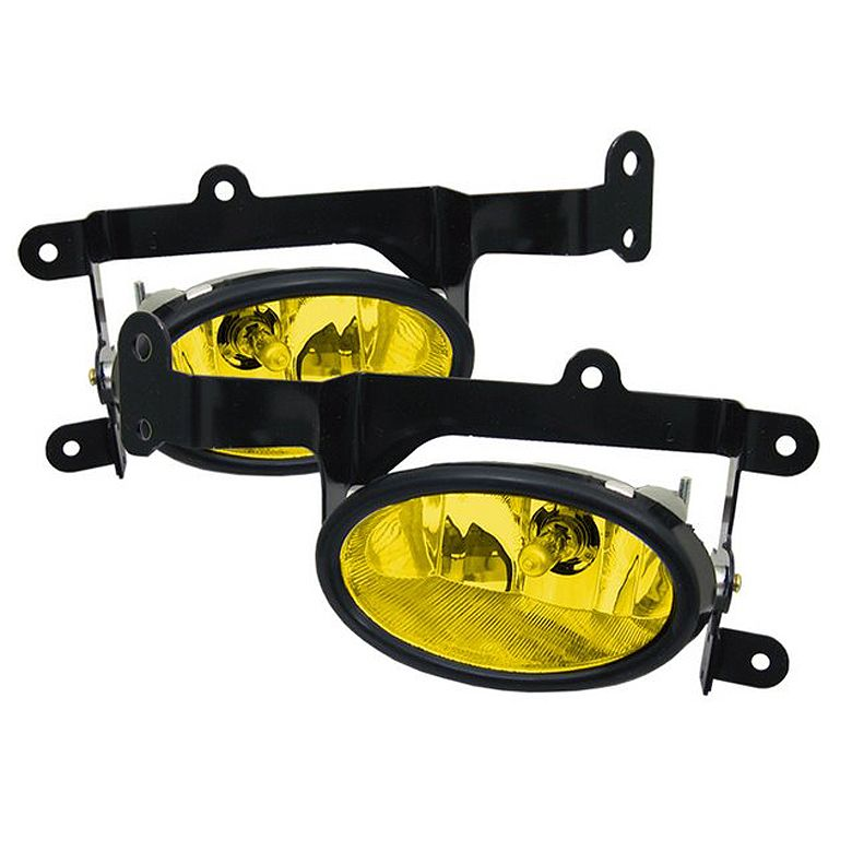 Honda Civic 2006-2008 2dr Yellow Fog Lights (With Images