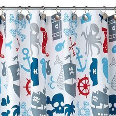 Pirate And Mermaid Shower Curtain Pirate Shower Curtain From Www
