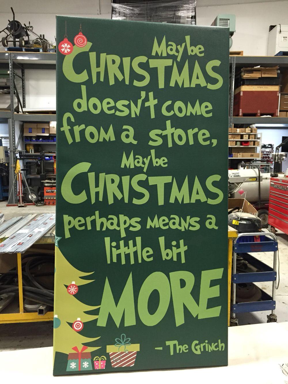 The Grinch Christmas Float Ideas.Christmas Canvas The Grinch Who Stole Christmas Christmas