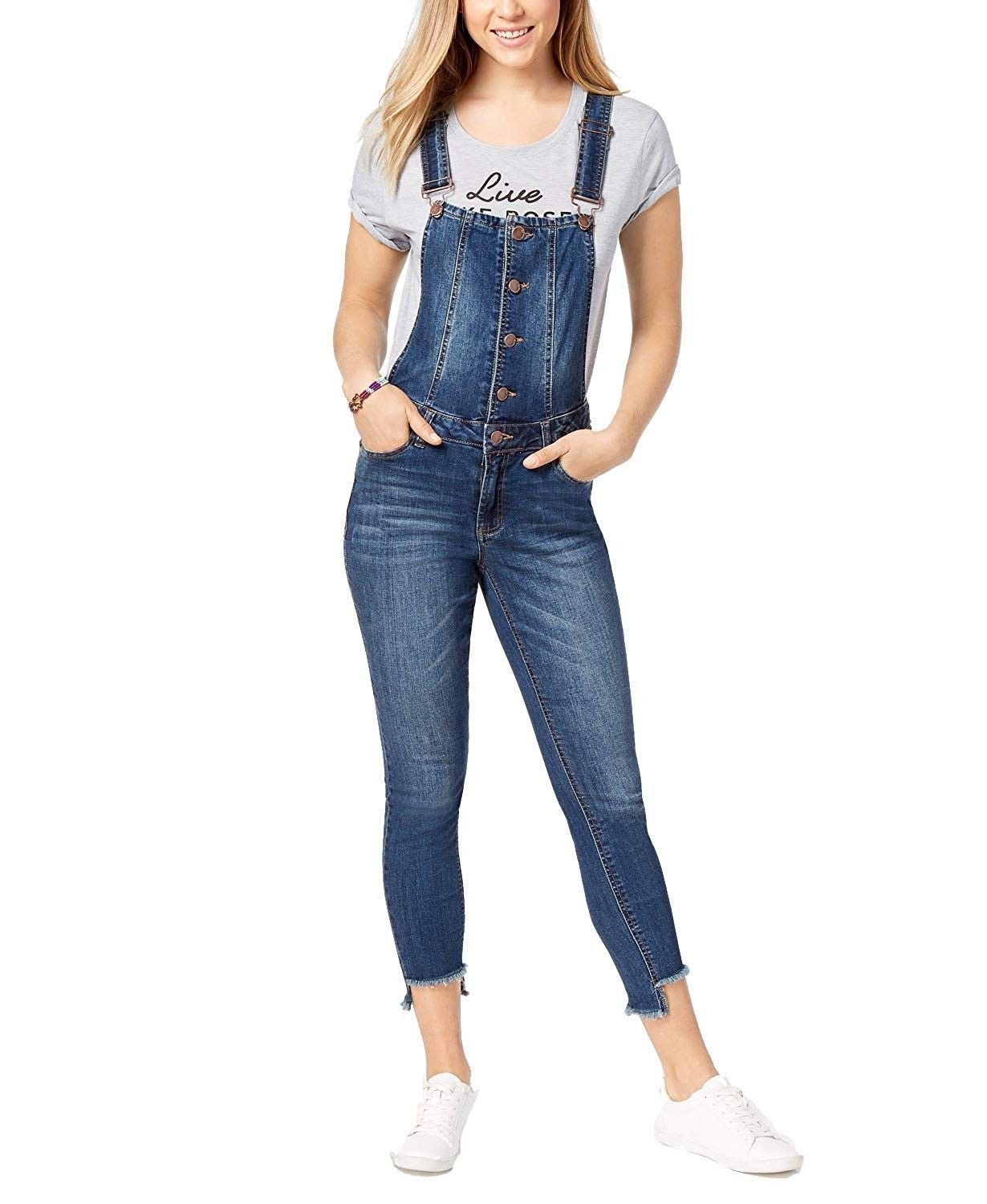 NEW WOME/'NS DENIM BLUE BLACK STRETCH SKINNY JEANS DUNGAREES UK SIZE 8-14