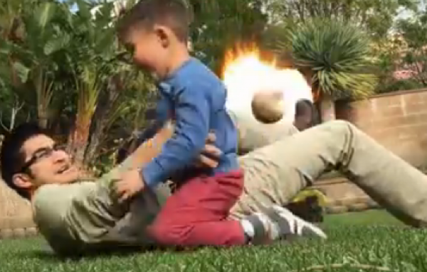 The Guy Who Adds Special Effects To His Kid's Video, Has A New One [VIDEO]