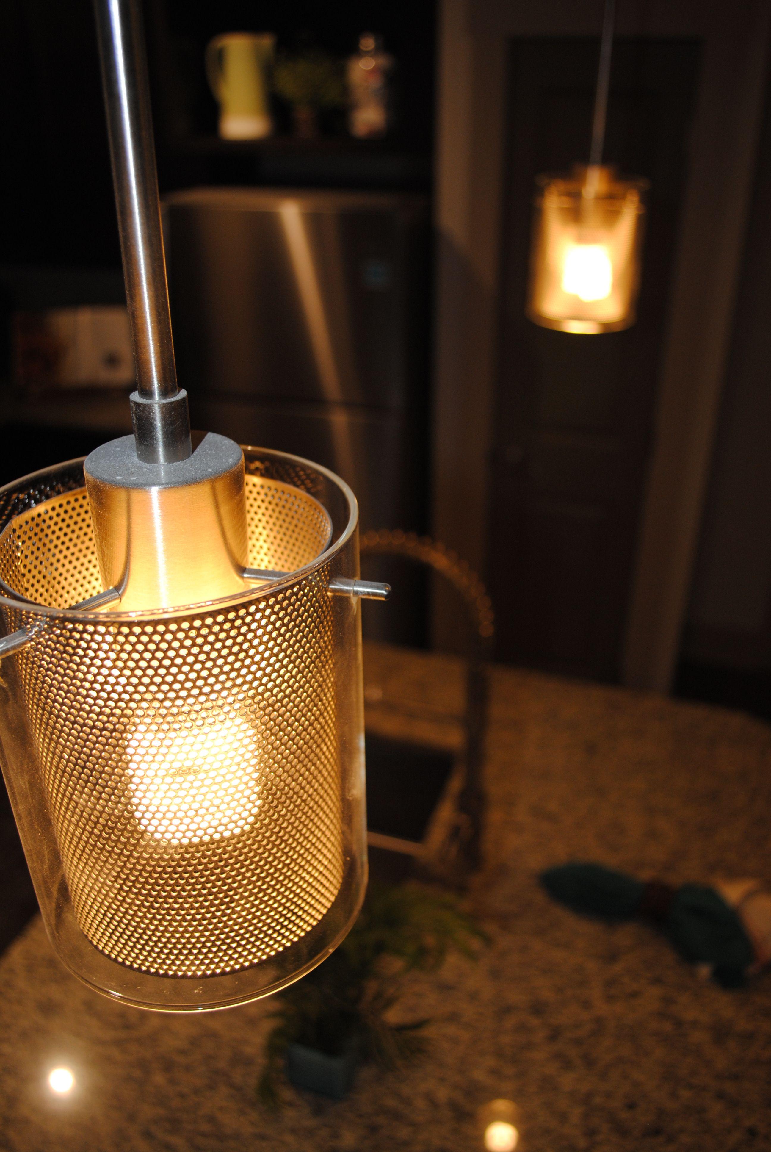 Designer Bar Lights Over A Granite Counter Kitchen Island, Included