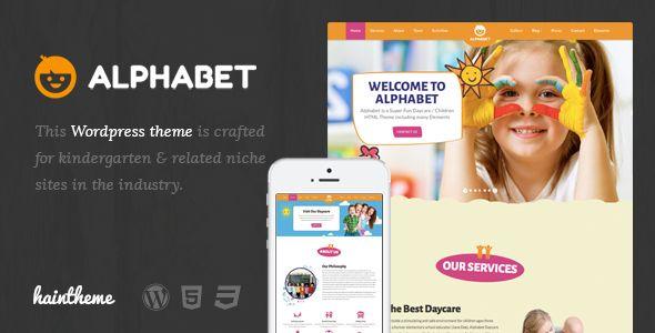 Alphabet - Kids, Children WordPress Theme | Wordpress, Graphics and ...