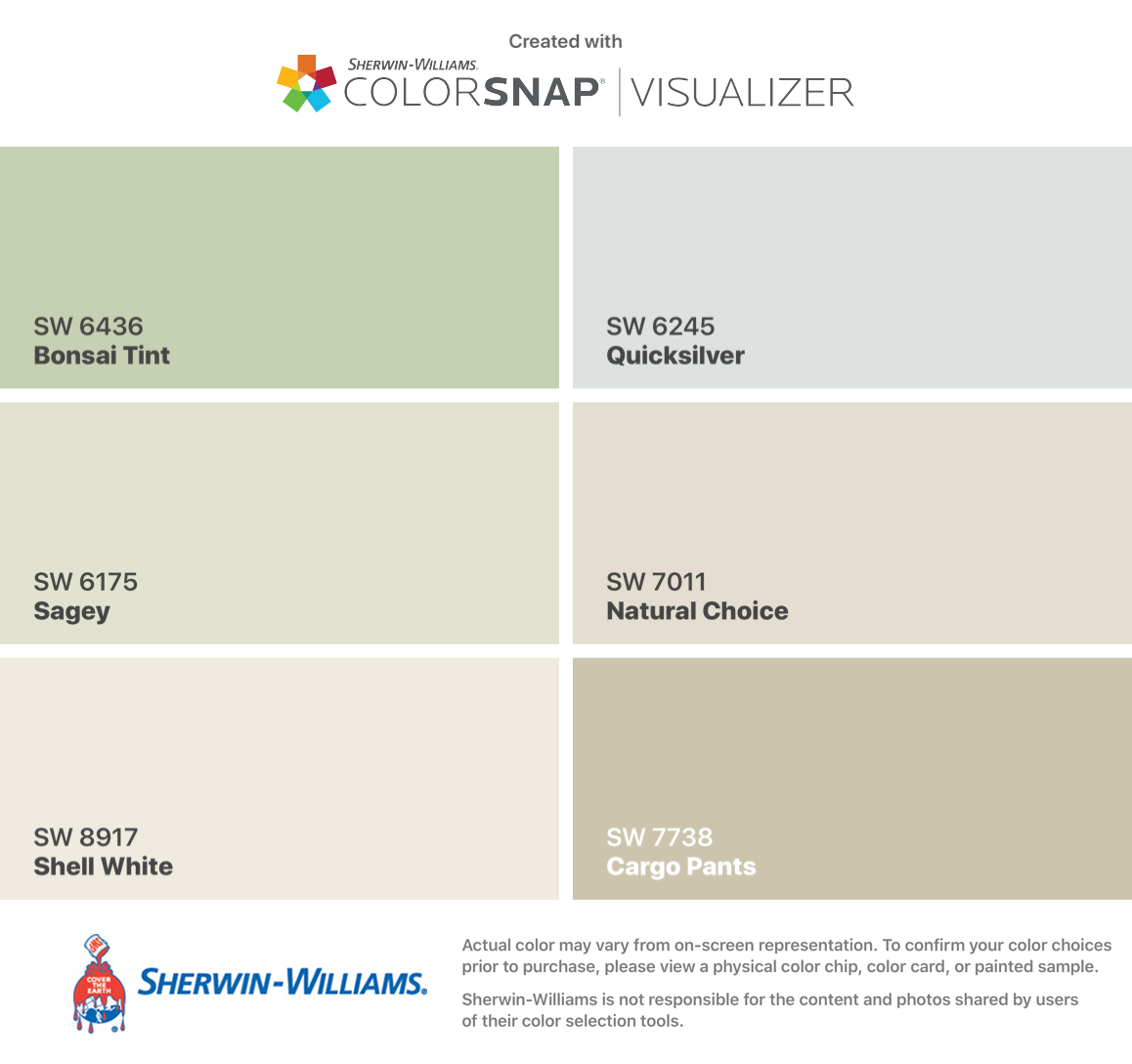 I Found These Colors With Colorsnap Visualizer For Iphone By Sherwin Williams Bonsai Tint Sw 64 Paint Colors For Home Agreeable Gray Sherwin Williams Colors