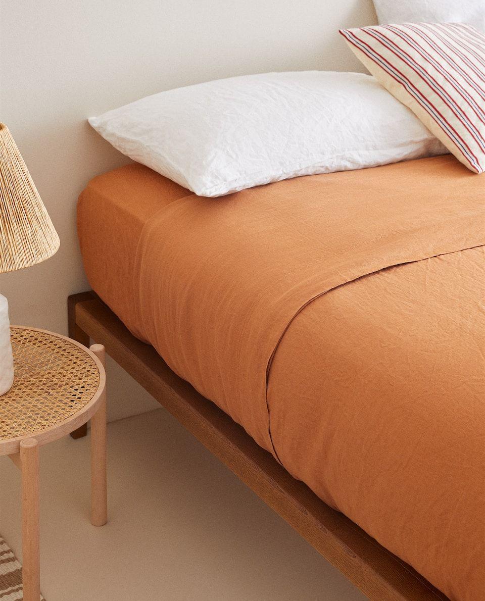 Terracotta Linen Duvet Cover Duvet Covers Bed Linen Bedroom Zara Home Canada In 2020 Linen Duvet Covers Linen Duvet Linen Bedroom