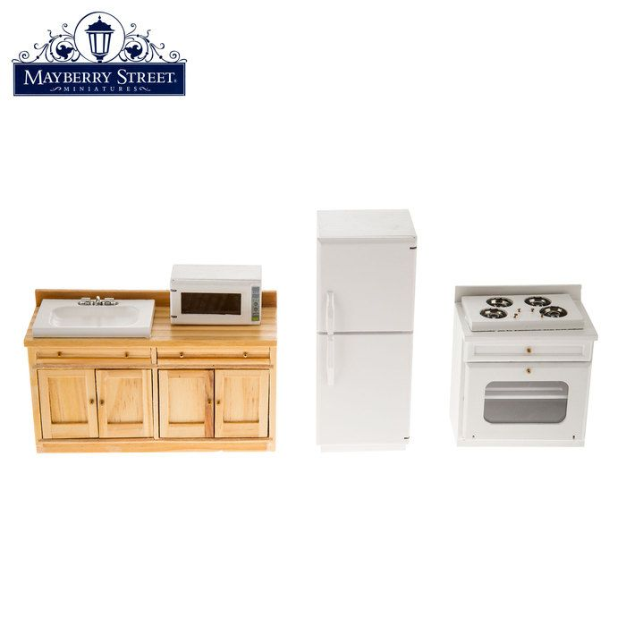 Miniature Full Kitchen Set Calico Critters Pinterest