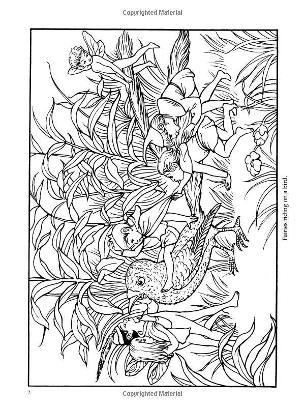 Richard Doyles Fairyland Dover Art Coloring Book Richard Doyle Marty Noble 9780486423845 Amazo Fairy Coloring Pages Designs Coloring Books Fairy Coloring