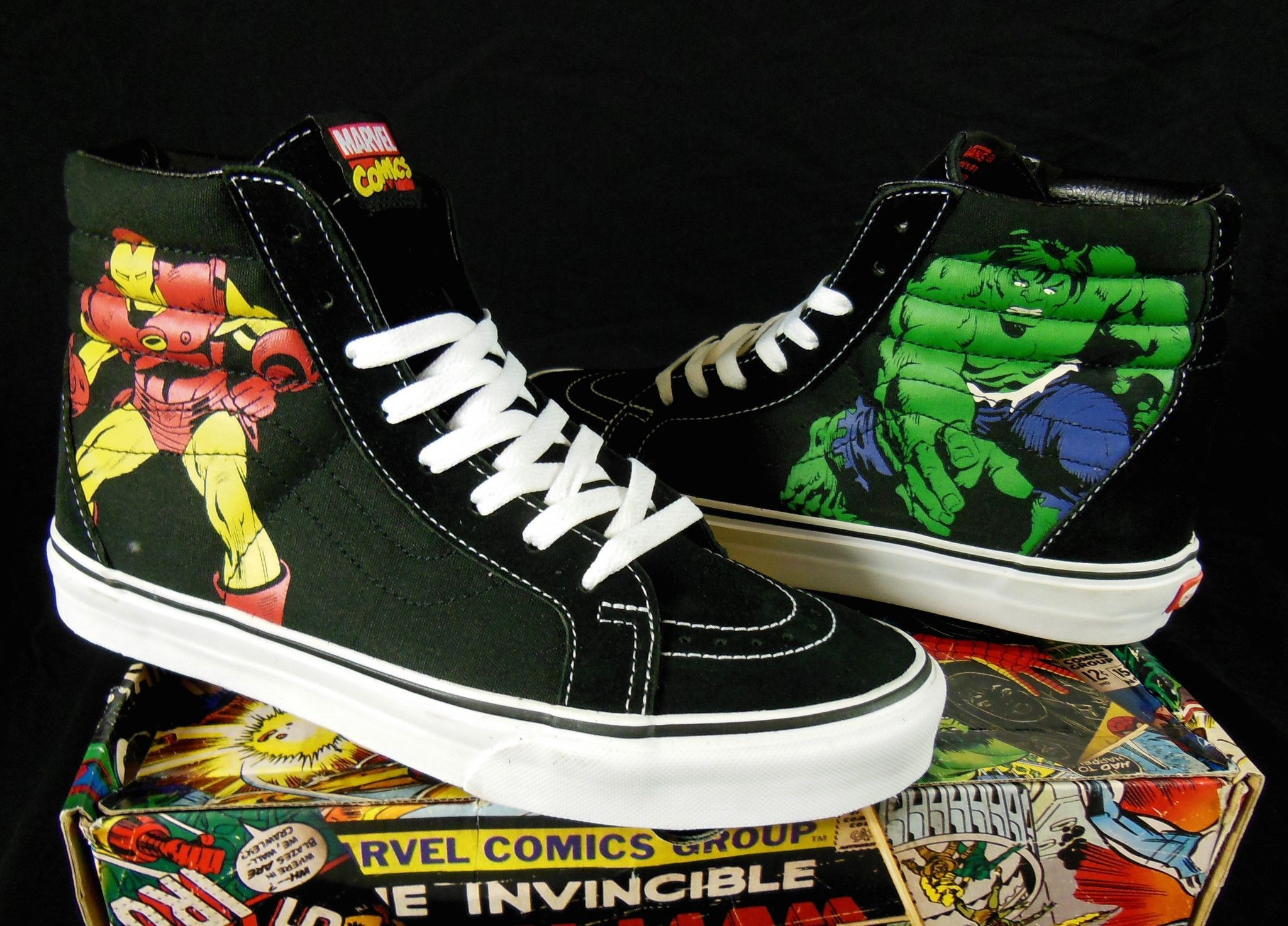 e19d4be56d5 Vans Avengers Marvel Comics Hi-Top Kicks   Sneakers