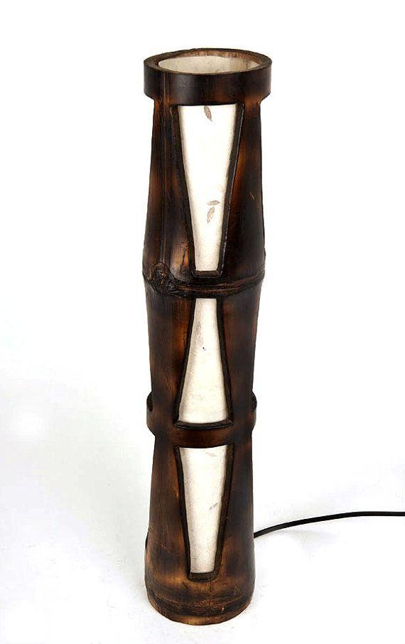 Lamp bamboo lamp wooden lamp desk lamp