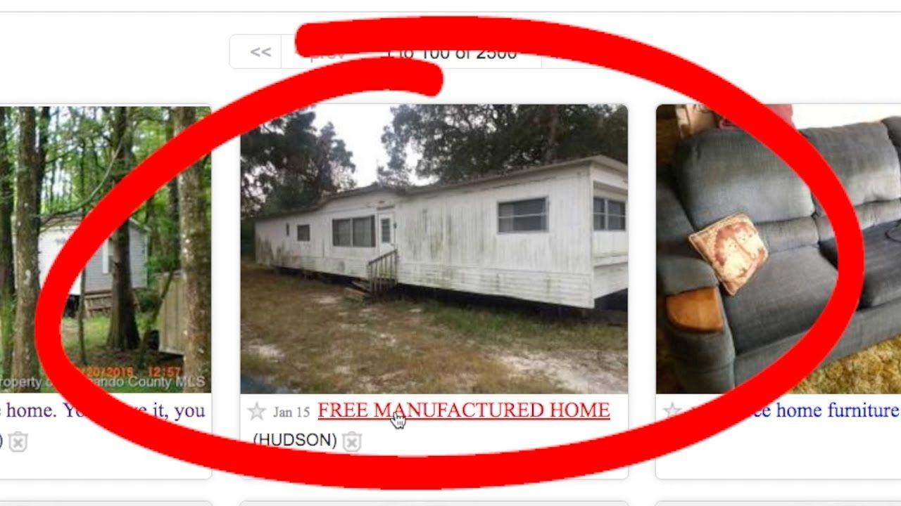 Free House On Craigslist Home Free Hudson Florida Manufactured Home