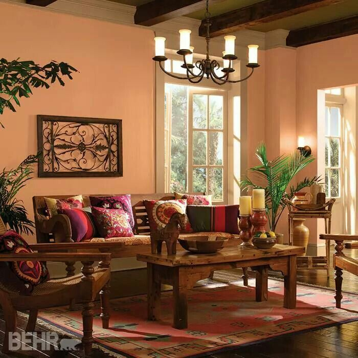 Behr Cantaloupe Slice 260B 5 Family Room ColorsLiving