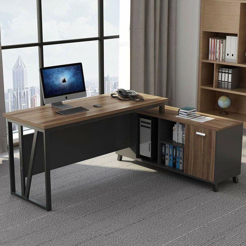 Pillager L Shaped Computer Desk L Shaped Executive Desk L Shaped Desk Home Office Design