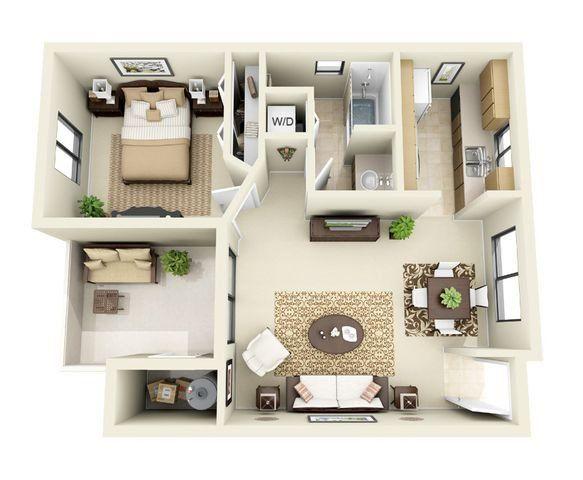 The Mesquite 1 Bedroom 1 Bathroom Floor Plan Bathroom Floor Plans Apartment Architecture Floor Plans