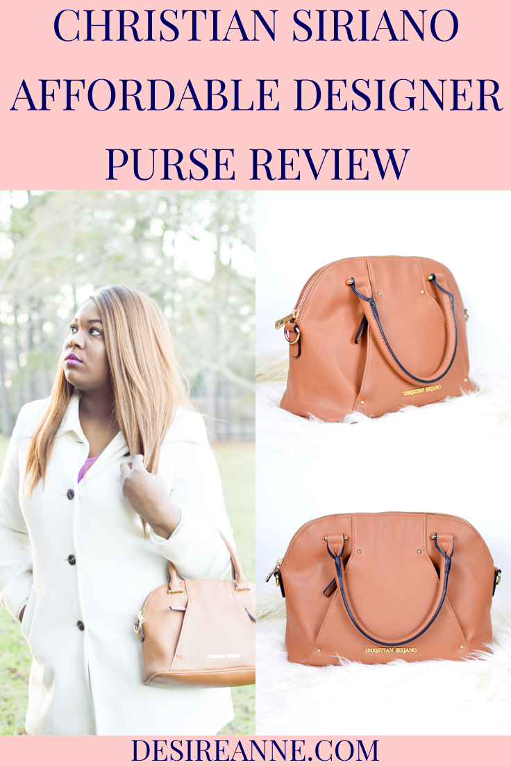 2890bfece41a Affordable designer purse by Christian Siriano    a review by Desire Anne