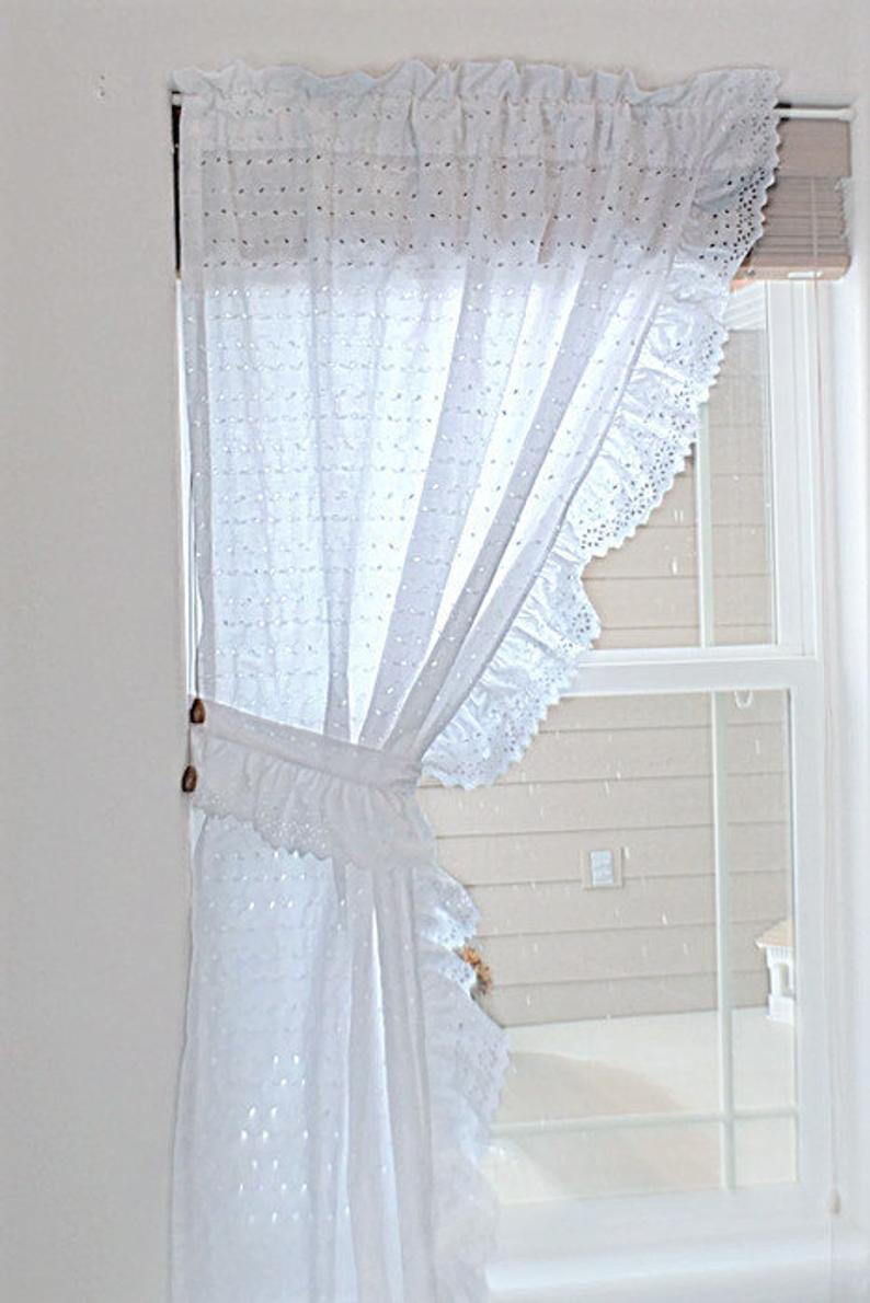 Eyelet Curtain Panel With Tieback In 2020 Panel Curtains