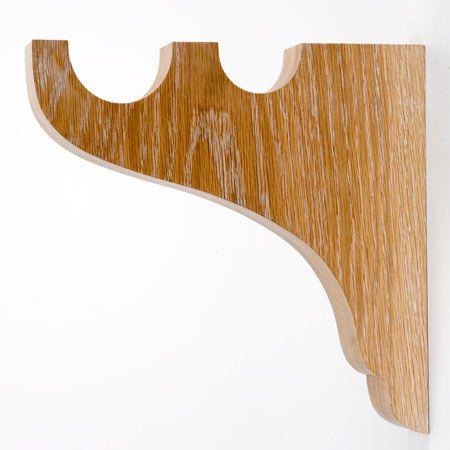 barras de cortina de madera cortineros