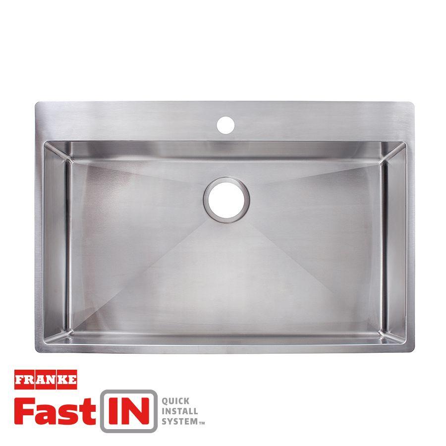 Franke Fast In 33 5 In X 22 5 In Stainless Steel Single Basin